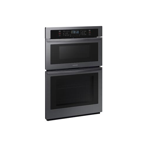 "30"" Microwave Combination Wall Oven with Wi-Fi in Black Stainless Steel"