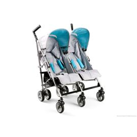 Tour LX Side by Side Stroller - Silver & Blue (046)