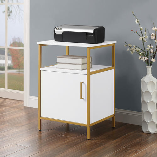 Modern Life White Utility Table and Printer Stand