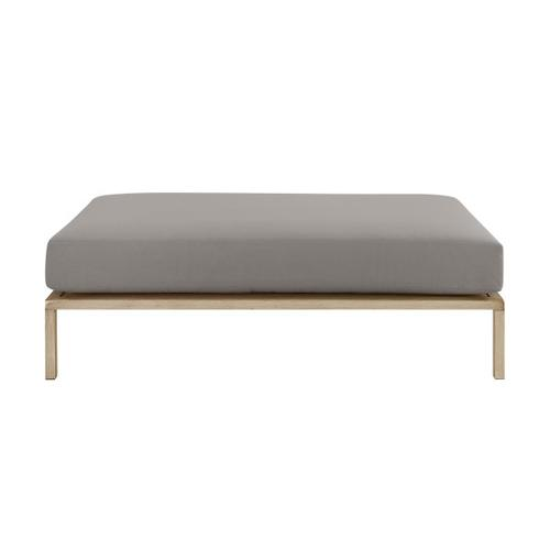 Gray Metal Base Ottoman Table (Component 3 or 3)