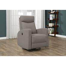 RECLINING CHAIR - POWER SWIVEL GLIDER / LIGHT BROWN