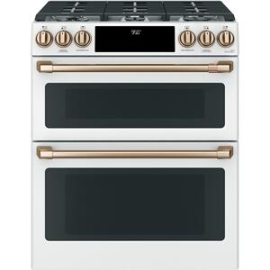 "Café 30"" Smart Slide-In, Front-Control, Dual-Fuel, Double-Oven Range with Convection Product Image"