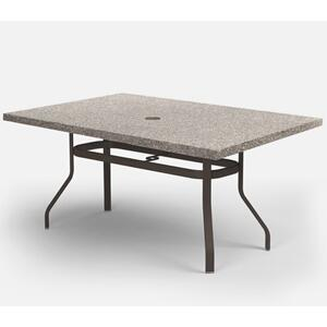 "42"" x 62"" Rectangular Balcony Table (with Hole) Ht: 34.25"" 37XX Universal Aluminum Base (Model # Includes Both Top & Base)"