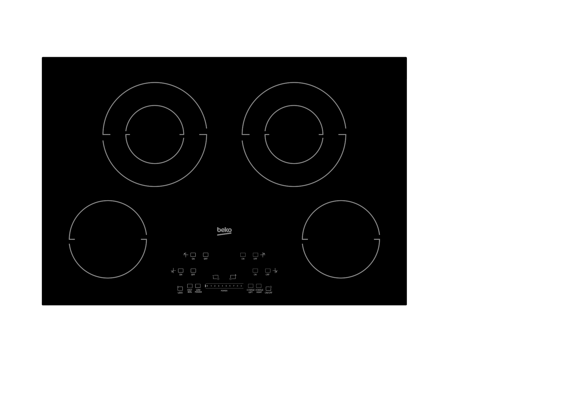 """30"""" Built-In Electric Cooktop with 4 Burners and Touch Control"""