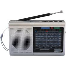 9-Band Rechargeable Bluetooth® Radio with USB/SD Card Input (Silver)