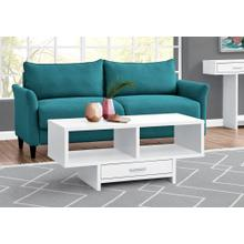COFFEE TABLE - WHITE WITH STORAGE