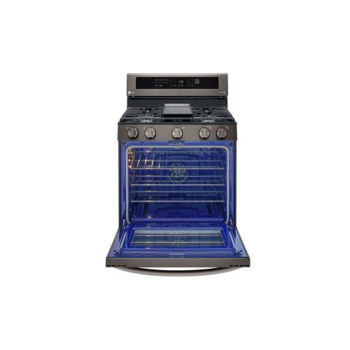 5.8 cu ft. Smart wi-fi Enabled Gas Single Oven InstaView™ Range with Air Fry