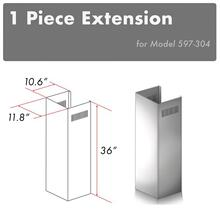 """View Product - ZLINE 1-36"""" Chimney Extension for 9 ft. to 10 ft. Ceilings (1PCEXT-597-304)"""
