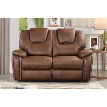 8090 BROWN Power Recliner Air Leather Loveseat