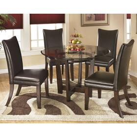 Charrell Table & 4 Chairs Medium Brown