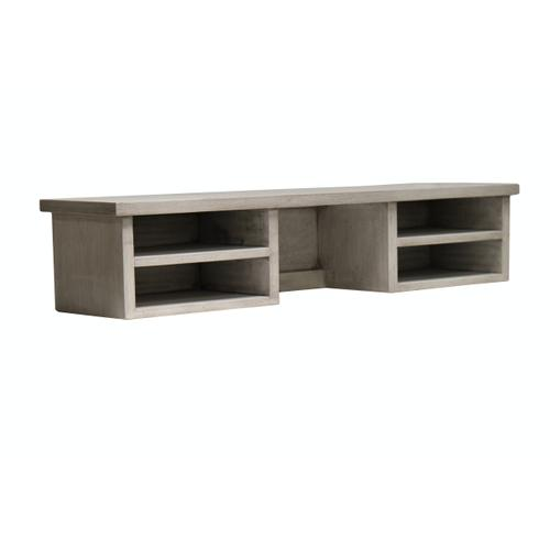 Capris Furniture - Desk Hutch, Available in Distressed Grey and Distressed White Finish.