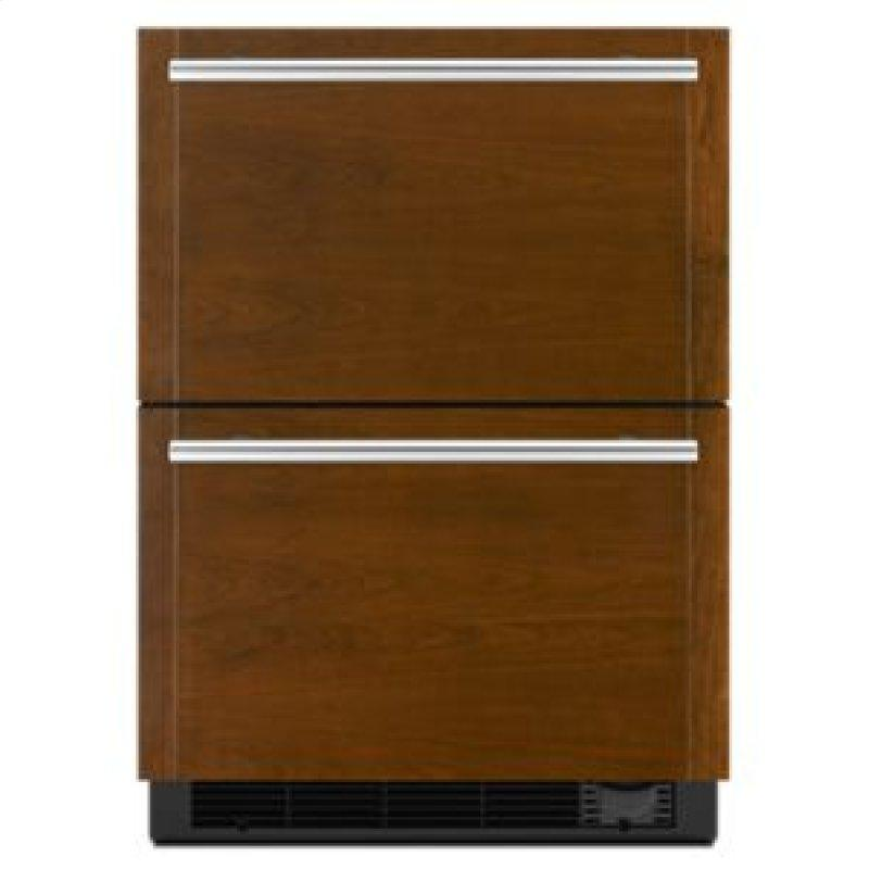 "Panel-Ready 24"" Double Drawer Refrigerator/Freezer"