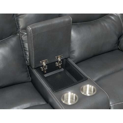Steve Silver Co. - Isabella Manual Reclining Console Loveseat, Grey