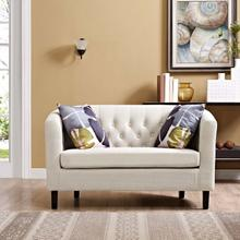 See Details - Prospect Upholstered Fabric Loveseat in Beige