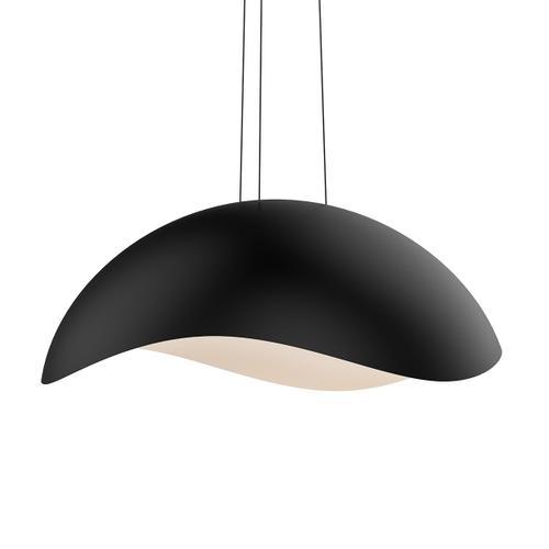 Sonneman - A Way of Light - Waveforms Dome LED Pendant [Size=Large, Color/Finish=Satin Black w/Satin White Interior]