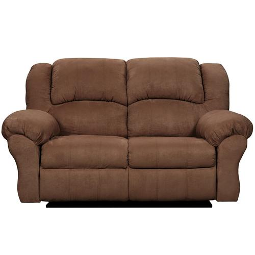 Exceptional Designs by Flash Aruba Chocolate Microfiber Reclining Loveseat