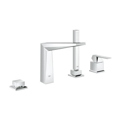 Allure Brilliant 4-hole Single-handle Deck Mount Roman Tub Faucet With 1.75 Gpm Hand Shower