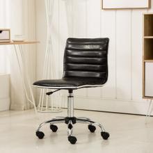 Fremo Chromel Adjustable Air Lift Office Chair in Black