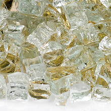 "See Details - 1/2"" Gold Reflective, 10 Lb. Jar Fire Glass"