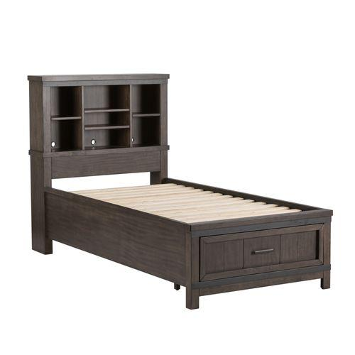 Liberty Furniture Industries - Twin Bookcase Bed, Dresser & Mirror