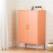 Crea - Metal 2-Door Accent Cabinet, Orange