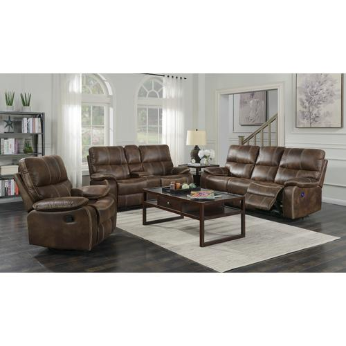 Jessie James Power Reclining Loveseat, Chocolate Brown U7130-21-15