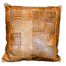 Leather Panel Pillow