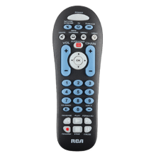 3-Device Universal Remote Control - Black
