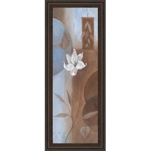 """White Flower Il"" Framed Print Wall Art"