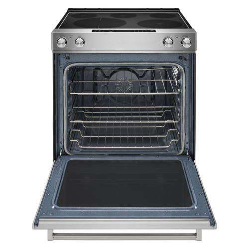 KitchenAid Canada - 30-Inch 5-Element Electric Convection Front Control Range - Stainless Steel