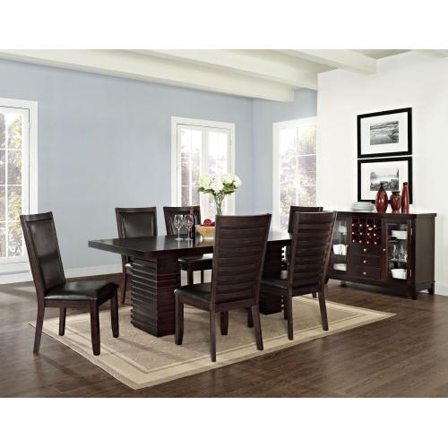 Briana 60-78 inch Dining Table with 18 inch Leaf