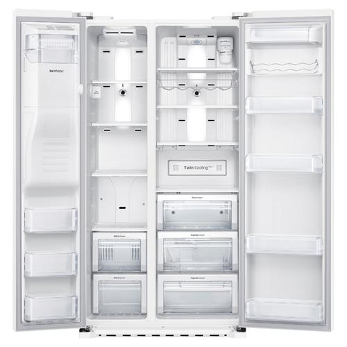 """Scratch and Dent 36""""-Wide, 22 cu. ft. Capacity Counter Depth Side-By-Side Refrigerator (White)"""
