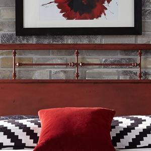 Liberty Furniture Industries - King Metal Headboard - Red