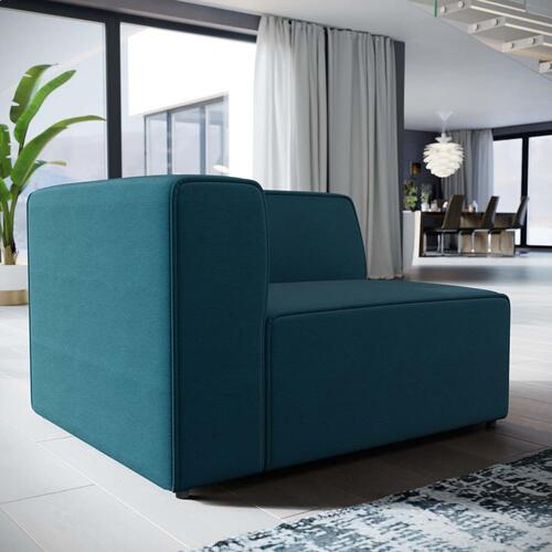 Mingle Fabric Left-Facing Sofa in Blue