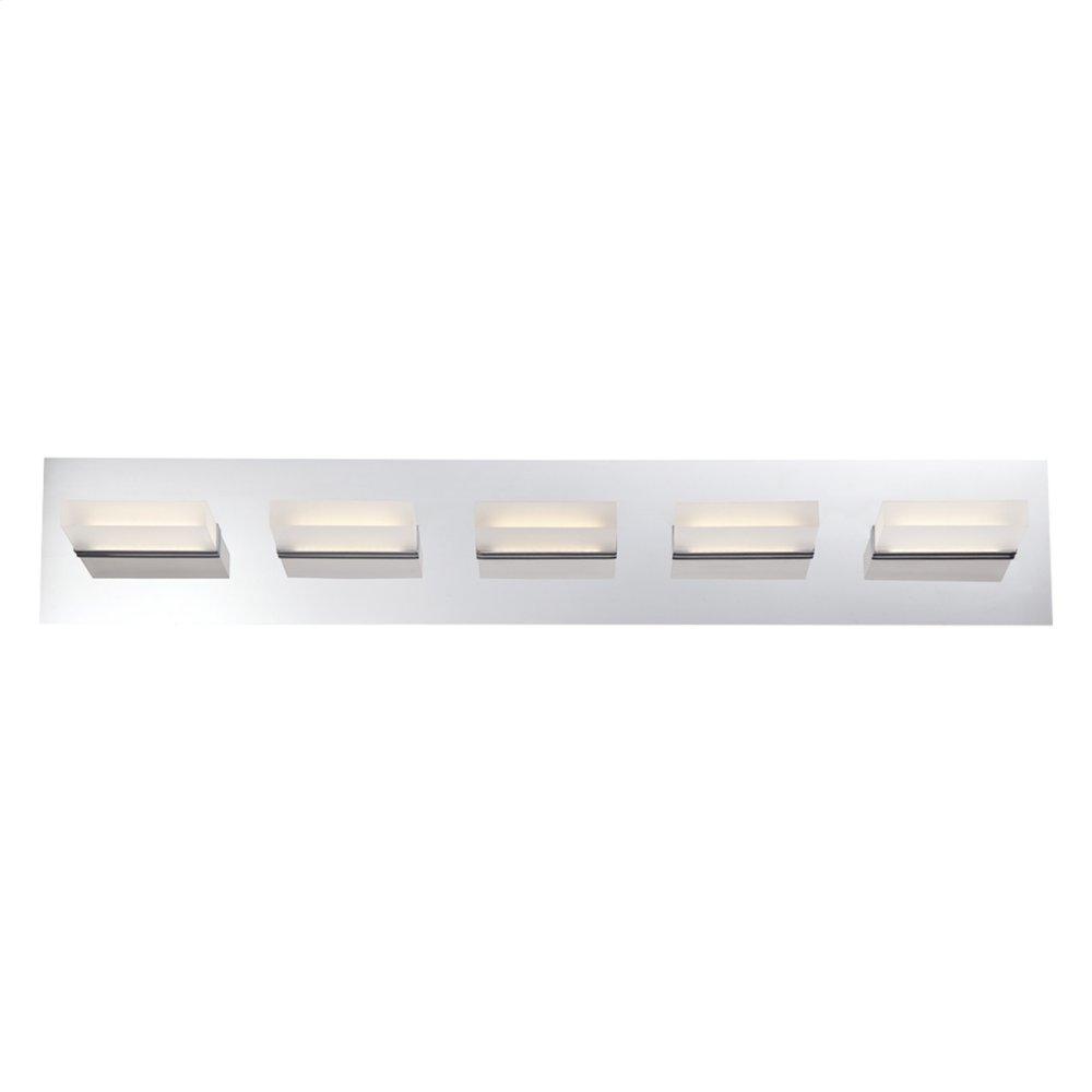 See Details - 5 LIGHT LED BATHBAR - Chrome