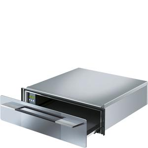 """SmegFood and Dish Warming Drawer for Compact Ovens, 24"""" (60cm). Supersilver Silverglass"""