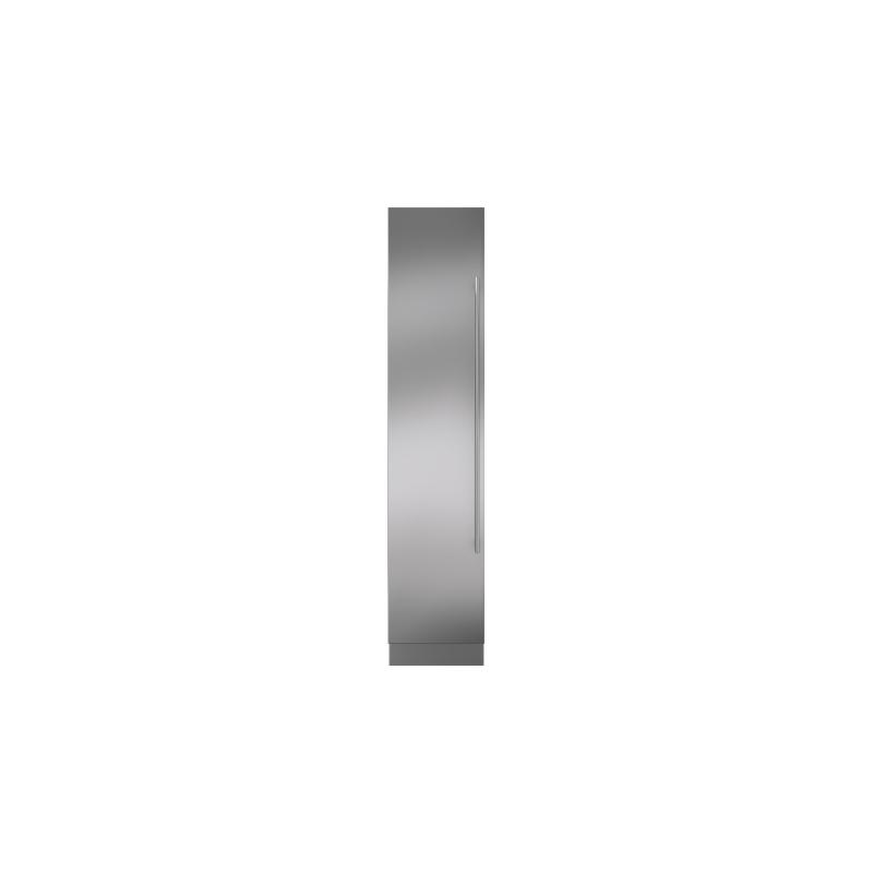 "Integrated Stainless Steel 18"" Column Door Panel with Tubular Handle - Left Hinge"