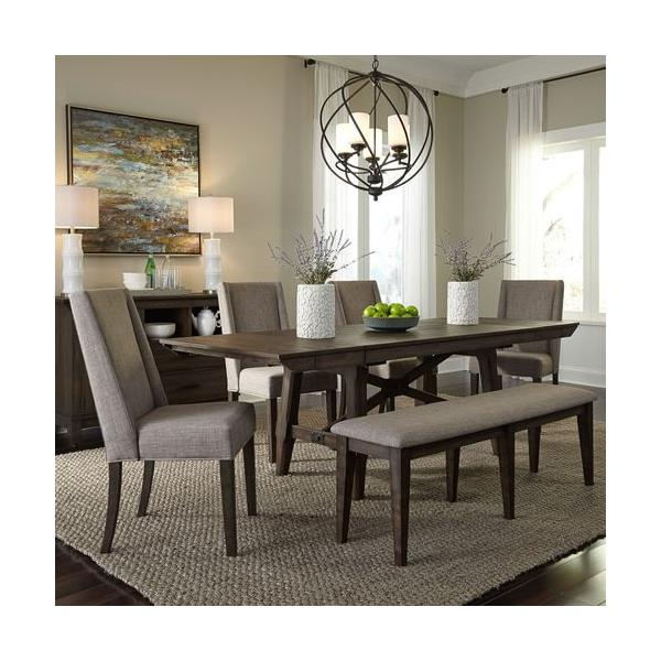 Optional 6 Piece Trestle Table Set