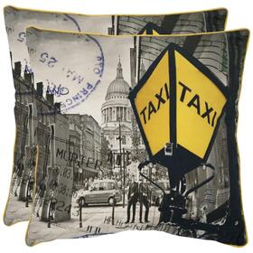 Belgrade Pillow - Yellow / Grey