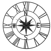 See Details - Gunmetal Compass Wall Clock