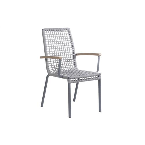 Penelope Stackable Rope Dining Arm Chair
