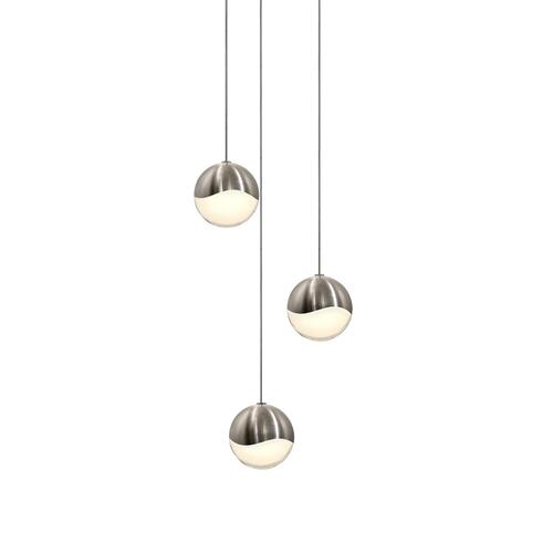 Sonneman - A Way of Light - Grapes® LED Pendant [Size=3-Light Medium, Color/Finish=Satin Nickel, Shape=Round Canopy]