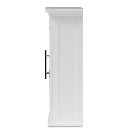 Wholesale Interiors - Baxton Studio Turner Modern and Contemporary White Finished Wood 2-Door Bathroom Wall Storage Cabinet