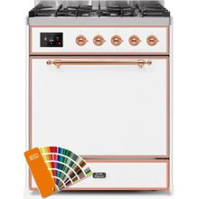 See Details - Majestic II 30 Inch Dual Fuel Liquid Propane Freestanding Range in Custom RAL Color with Copper Trim