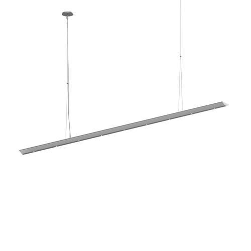 "Sonneman - A Way of Light - Votives LED Bar Pendant [Size=6', Color/Finish=Bright Satin Aluminum, Shade Size=.25"" height x 2.25"" diameter]"