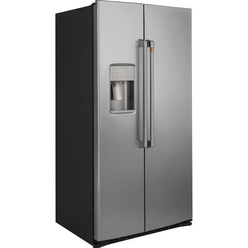 Café 21.9 Cu. Ft. Counter-Depth Side-by-Side Refrigerator Stainless Steel