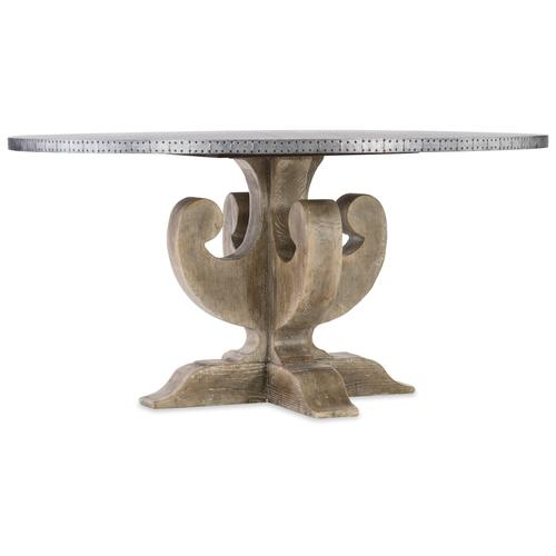 Boheme Ascension 60in Zinc Round Dining Table