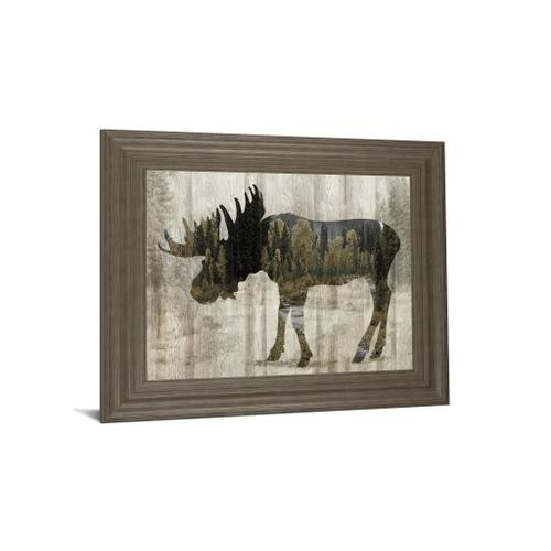 """""""Camouflage Animals- Moose"""" By Tania Bello Framed Print Wall Art"""