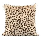"Leopard Print Goatskin 20"" Pillow Product Image"