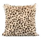 "Leopard Print Goatskin 20"" Pillow Product Image"